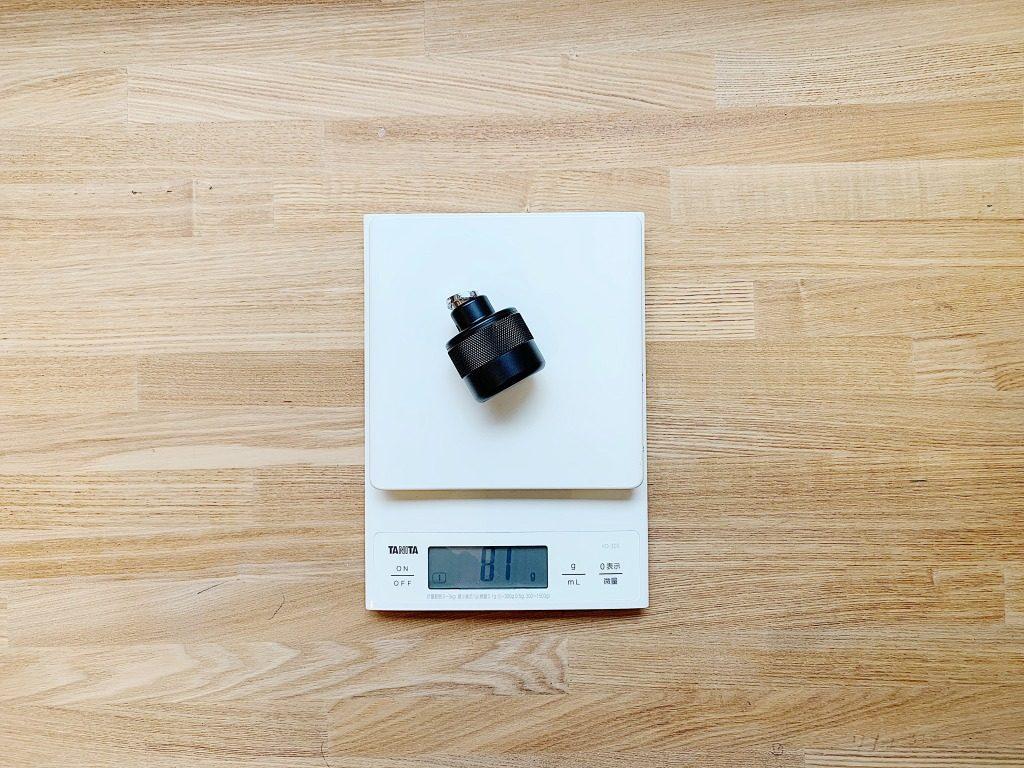 tokyo grapher レンズケースにレンズを装着したときの重さ