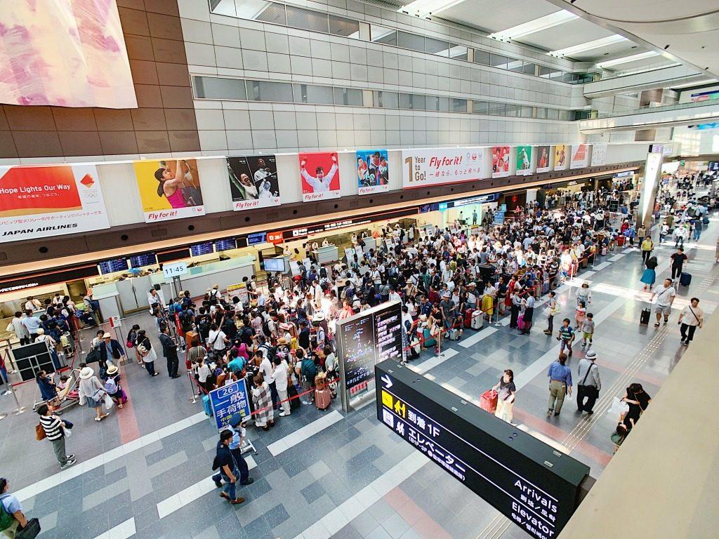 羽田空港の混雑