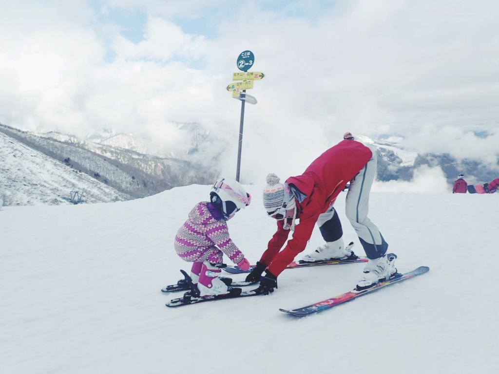 幼児連れスキー